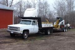 tree pots mounted on truck